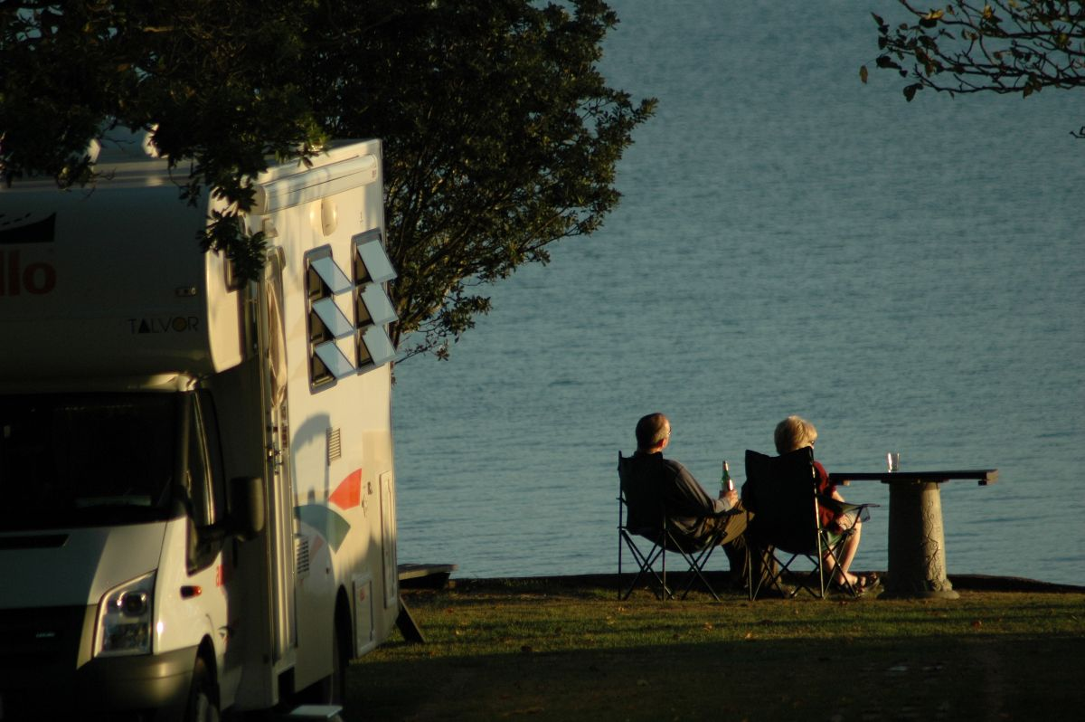 Campervan and Couple